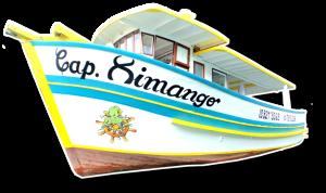 barco capitao ximango barco para pesca farol do boi, ilha da vitoria, ilhabela sp..
